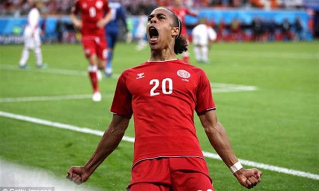 Photo of صاحب هدف الدنمارك في شباك بيرو ليس دنماركيا !! يوسف بولسن