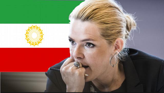 Photo of إيران غير راضية عن استخدام وزيرة الهجرة الدنماركية الكاريكاتور المسيء للنبي محمد صورة خلفية على جهازها اللوحي