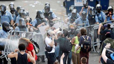 "Photo of مظاهرات احتجاجية على ""العنصرية"" قبالة السفارة الأمريكية في الدنمارك"